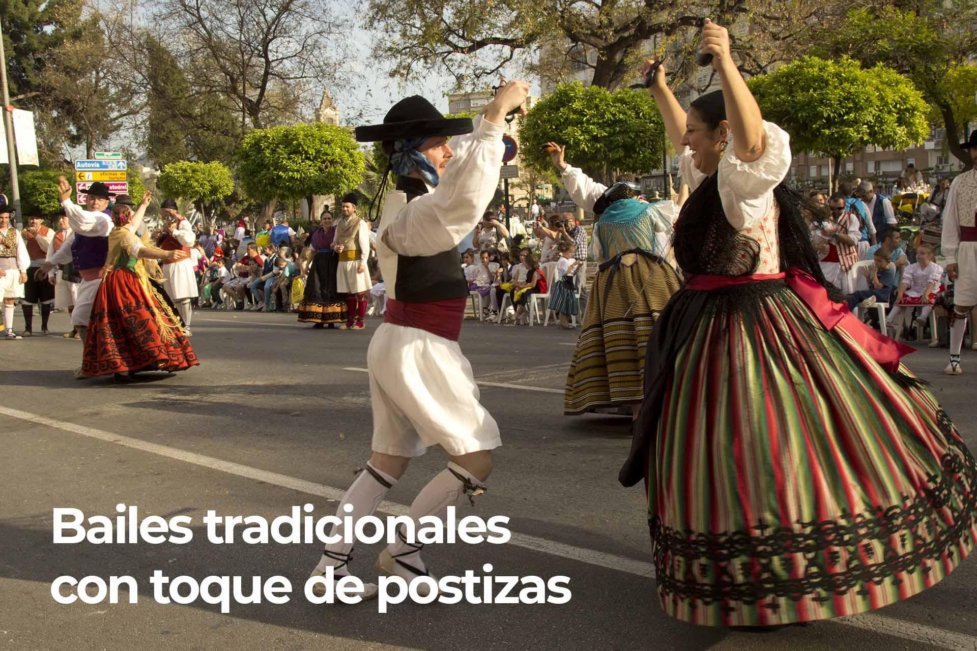 Bailes tradicionales con toque de postizas