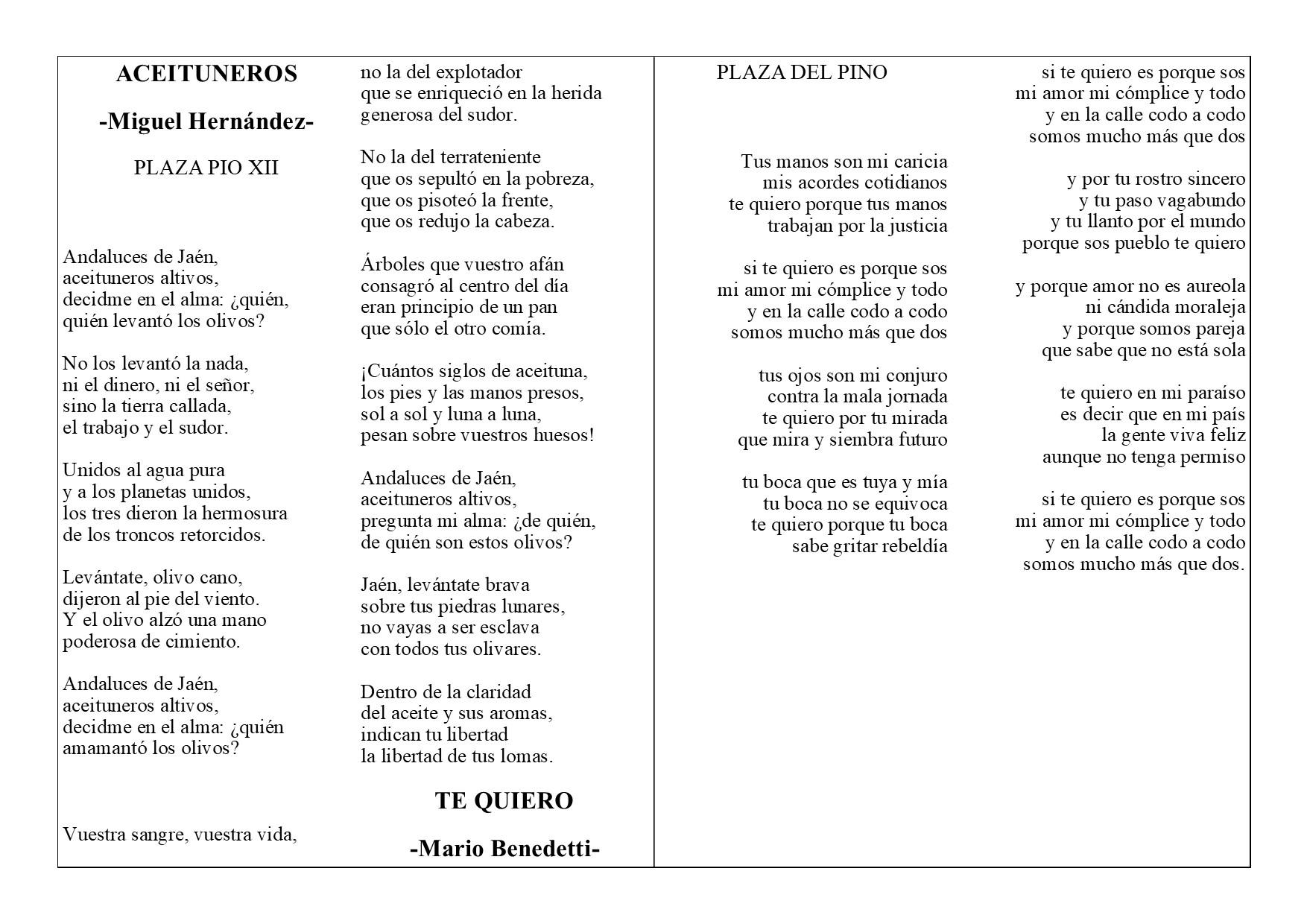 Poemas en Monolitos